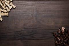 Οι αριθμοί σκακιού για καφετή ο πίνακας Στοκ εικόνες με δικαίωμα ελεύθερης χρήσης