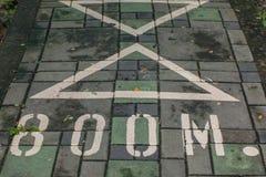 Οι αριθμοί στα δημόσια πεζοδρόμια Στοκ φωτογραφία με δικαίωμα ελεύθερης χρήσης