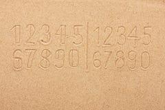 Οι αριθμοί στην άμμο Στοκ Φωτογραφίες