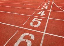 Οι αριθμοί στο τρέξιμο ακολουθούν τις γραμμές Στοκ Φωτογραφία
