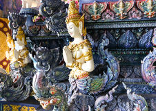 Οι αριθμοί deva σε Rong μηνύουν το ναό οι Δέκα στο rai Chiang, Ταϊλάνδη Στοκ Εικόνες