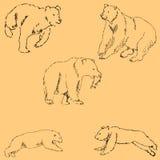 Οι αρκούδες Σκίτσο με το χέρι Σχέδιο μολυβιών με το χέρι μπλε διάνυσμα ουρανού ουράνιων τόξων εικόνας σύννεφων Η εικόνα είναι λεπ ελεύθερη απεικόνιση δικαιώματος