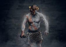 Οι αρσενικοί αθλητικοί τύποι αρχαίου Έλληνα κρατούν τον αλτήρα Στοκ εικόνα με δικαίωμα ελεύθερης χρήσης