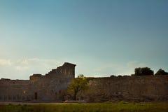 Οι αρχαίες καταστροφές ενός αμφιθεάτρου σε Patara, Lycia Στοκ Εικόνες