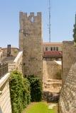 Οι αρχαίοι τοίχοι και οι πύργοι πόλεων στην παλαιά Ιερουσαλήμ Στοκ φωτογραφία με δικαίωμα ελεύθερης χρήσης