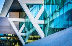 Οι αρχιτεκτονικές λεπτομέρειες του κέντρου Συνθηκών στη Βαλτιμόρη, χαλούν στοκ εικόνες