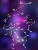 Οι αστερισμοί αστεριών το υπόβαθρο σχεδίων Στοκ Εικόνες
