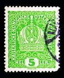 Οι αυτοκράτορες στέφουν, στέφουν, αυτοκράτορας Franz Joseph, και SE καλύψεων των όπλων Στοκ εικόνα με δικαίωμα ελεύθερης χρήσης