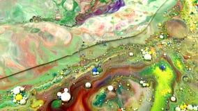 Οι αφηρημένες φυσαλίδες πτώσεων μελανιού εκρήγνυνται τη διάχυση παφλασμών απόθεμα βίντεο