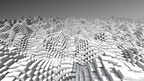 Οι αφηρημένοι άσπροι τρισδιάστατοι κύβοι τεχνολογίας που ο γεωμετρικός υπολογιστής υποβάθρου 4k παρήγαγε το αφηρημένο υπόβαθρο δί διανυσματική απεικόνιση