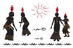 Οι αφρικανικές γυναίκες χορεύουν λαϊκός χορός Στοκ εικόνες με δικαίωμα ελεύθερης χρήσης