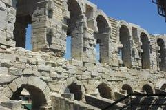 Οι αψίδες του Arles Coliseum Στοκ Εικόνες