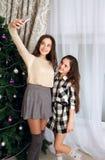 Οι αδελφές κάνουν selfie Στοκ Εικόνες