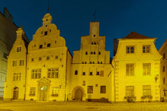οι αδελφοί συγκεντρώνονται τα σπίτια Λετονία μεσαιωνική παλαιά Ρήγα τρία πόλη Στοκ Εικόνες