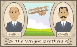 Οι αδελφοί Wright ελεύθερη απεικόνιση δικαιώματος