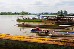 Οι βάρκες σε Mekhong φορούν Det Στοκ εικόνες με δικαίωμα ελεύθερης χρήσης