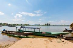 Οι βάρκες σε Mekhong φορούν Det Στοκ Εικόνα