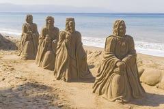 οι βασιλιάδες στρώνουν με άμμο Στοκ Φωτογραφίες