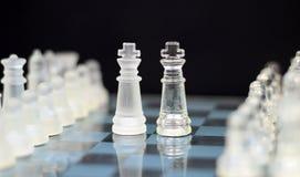 Οι βασιλιάδες - πόλεμος σκακιού Στοκ φωτογραφία με δικαίωμα ελεύθερης χρήσης