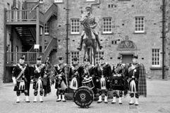 Οι βασιλικές σκωτσέζικες φρουρές Dragoon στο Εδιμβούργο Στοκ Φωτογραφίες
