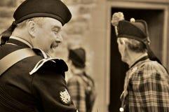 Οι βασιλικές σκωτσέζικες φρουρές Dragoon στο Εδιμβούργο Στοκ φωτογραφία με δικαίωμα ελεύθερης χρήσης