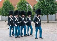 Δανικές βασιλικές φρουρές ζωής Στοκ Φωτογραφία