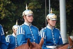 Οι βασιλικές φρουρές, Στοκχόλμη Στοκ Εικόνες