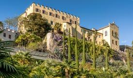 Οι βοτανικοί κήποι Trauttmansdorff Castle, Merano, νότιο Τύρολο, Ιταλία, στοκ φωτογραφία