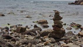 Οι βράχοι στο waterlock απόθεμα βίντεο