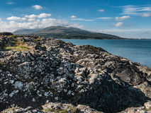 Οι βράχοι Barnacled στα τέλη του καλοκαιριού, νησί θερμαίνουν στοκ εικόνα με δικαίωμα ελεύθερης χρήσης