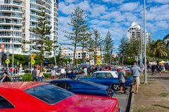 Οι βράχοι Cooly στο αυτοκίνητο φεστιβάλ παρουσιάζουν - Coolangatta - το Queensland - Αυστραλία Στοκ Εικόνες