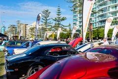 Οι βράχοι Cooly στο αυτοκίνητο φεστιβάλ παρουσιάζουν - Coolangatta - το Queensland - Αυστραλία Στοκ Φωτογραφία