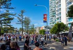 Οι βράχοι Cooly στο αυτοκίνητο φεστιβάλ παρουσιάζουν - Coolangatta - το Queensland - Αυστραλία Στοκ Εικόνα