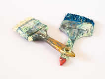 Οι βρώμικες βούρτσες χρωμάτων Στοκ Φωτογραφίες