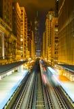 Οι βλαστοί Λ μέσω της εικονικής παράστασης πόλης του Σικάγου Στοκ φωτογραφία με δικαίωμα ελεύθερης χρήσης