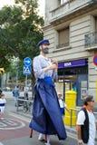 Οι γίγαντες παρελαύνουν στη Βαρκελώνη το φεστιβάλ το 2013 Λα Mercè Στοκ Εικόνες