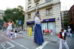 Οι γίγαντες παρελαύνουν στη Βαρκελώνη το φεστιβάλ το 2013 Λα Mercè Στοκ φωτογραφία με δικαίωμα ελεύθερης χρήσης