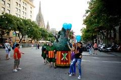 Οι γίγαντες παρελαύνουν στη Βαρκελώνη το φεστιβάλ το 2013 Λα Mercè Στοκ εικόνες με δικαίωμα ελεύθερης χρήσης
