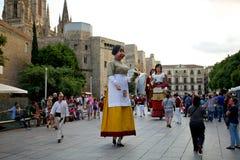 Οι γίγαντες παρελαύνουν στη Βαρκελώνη το φεστιβάλ το 2013 Λα Mercè Στοκ εικόνα με δικαίωμα ελεύθερης χρήσης