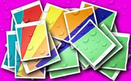 Οι γεωμετρικές γραμμές, γωνίες, κύκλοι, χρωμάτισαν και γραπτά σχέδια, ομιλία NS, εικόνες για τις απεικονίσεις και υπόβαθρο στοκ εικόνα με δικαίωμα ελεύθερης χρήσης