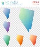 Οι γεωμετρικοί polygonal χάρτες της Νεβάδας, μωσαϊκό μας ορίζουν απεικόνιση αποθεμάτων