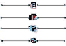 οι γραμμές κυβερνούν καθ& διανυσματική απεικόνιση