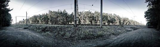 Οι γραμμές ραγών Στοκ φωτογραφία με δικαίωμα ελεύθερης χρήσης