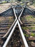 Οι γραμμές σιδηροδρόμων Στοκ Φωτογραφία