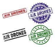 Οι γρατσουνισμένοι κατασκευασμένοι ΚΗΦΉΝΕΣ AIR σφραγίζουν τα γραμματόσημα ελεύθερη απεικόνιση δικαιώματος