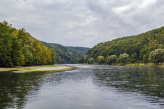 Οι γραφικές τράπεζες του Δούναβη, Γερμανία στοκ εικόνες