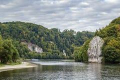 Οι γραφικές τράπεζες του Δούναβη, Γερμανία στοκ φωτογραφία