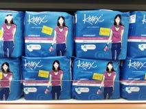 Οι γυναίκες γεμίζουν το εμπορικό σήμα - Kotex Στοκ εικόνες με δικαίωμα ελεύθερης χρήσης