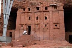 Οι γλυπτικές βράχου Lalibela στην Αιθιοπία Στοκ Εικόνα