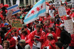 Οι δάσκαλοι χτυπούν το Σικάγο Φ στοκ φωτογραφία με δικαίωμα ελεύθερης χρήσης